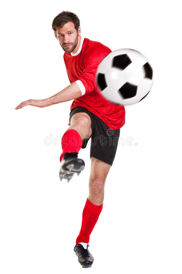 Free Footballer Cut Out On White Royalty Free Stock Photo - 19409785