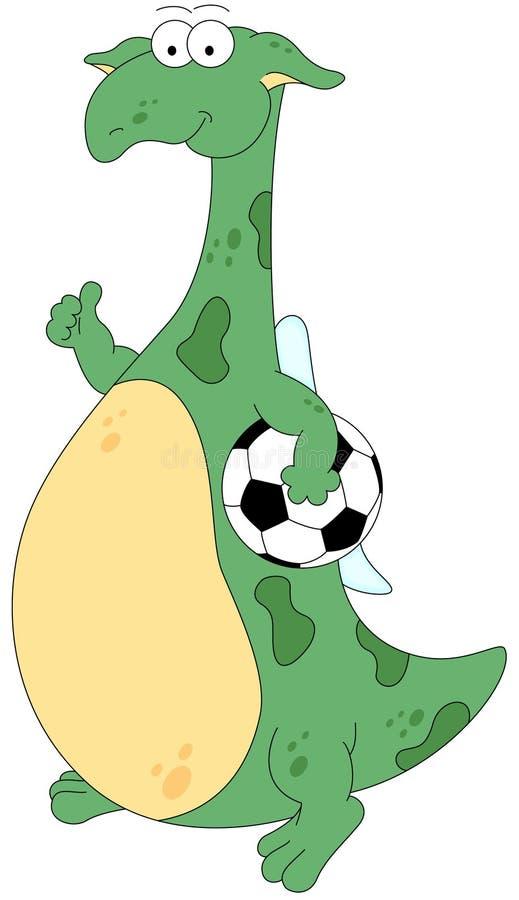 Footballer de dragon de bande dessinée illustration libre de droits