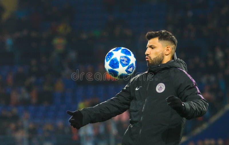 Footballer professionnel argentin Sergio Aguero photographie stock