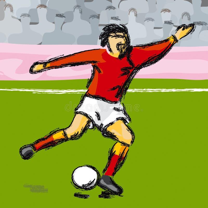 Footballer (vector) stock image