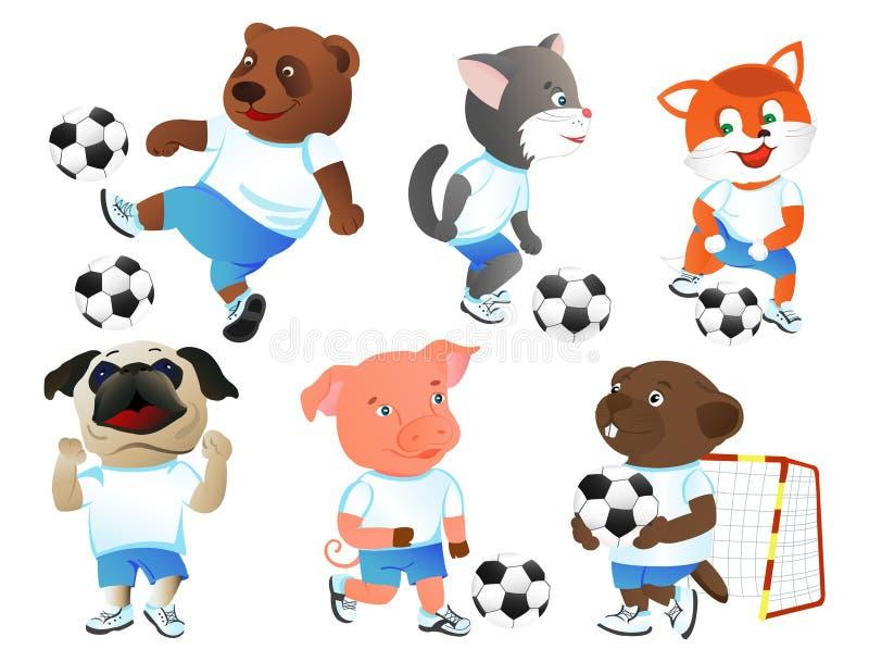 footballers vektor illustrationer