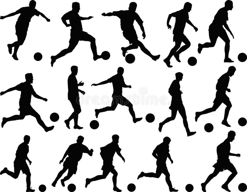 footballers stock abbildung