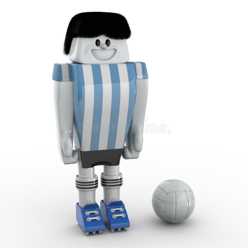 Footballeur - équipe Argentine illustration stock