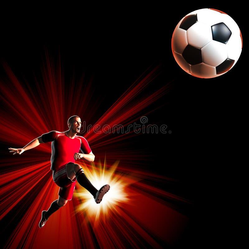 Footballeur illustration de vecteur