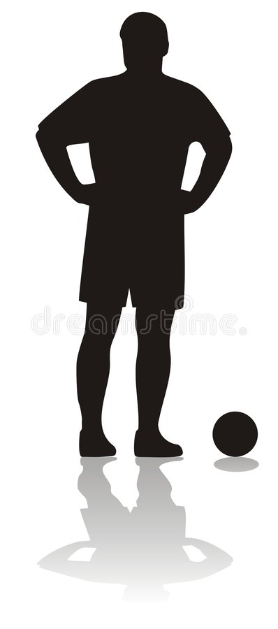 Footballeur illustration stock