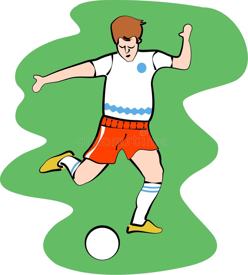 Footballeur illustration libre de droits