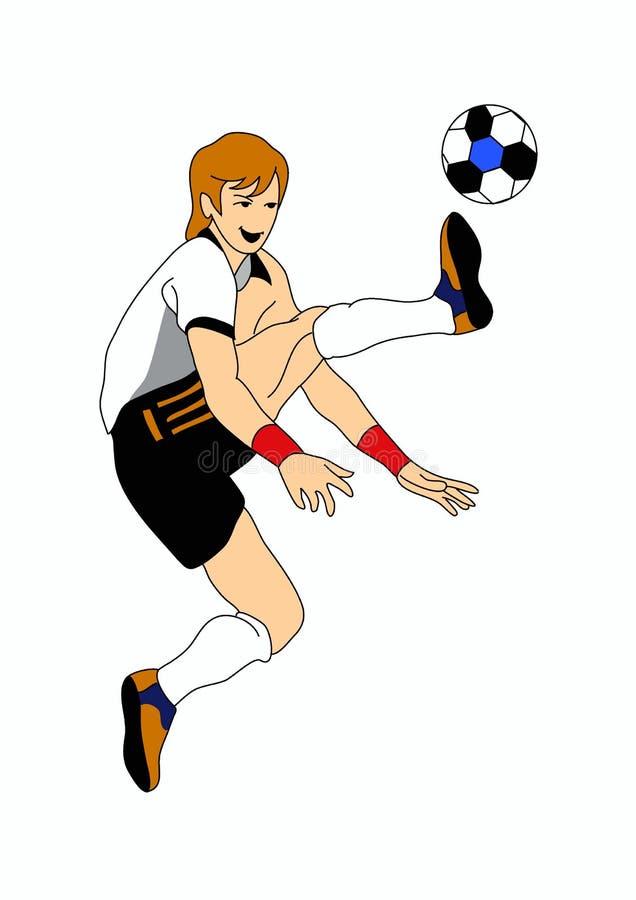 Footballeur illustration stock