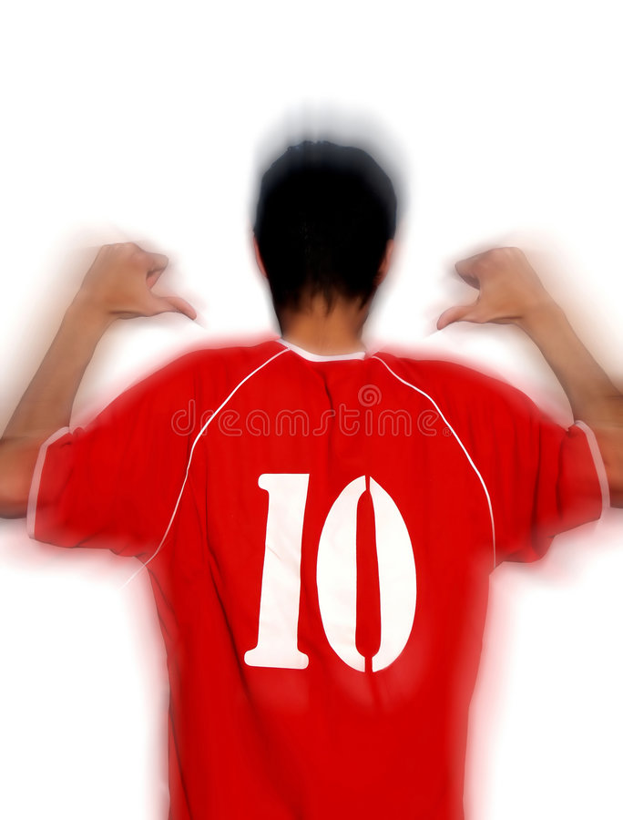 Footballeur image stock