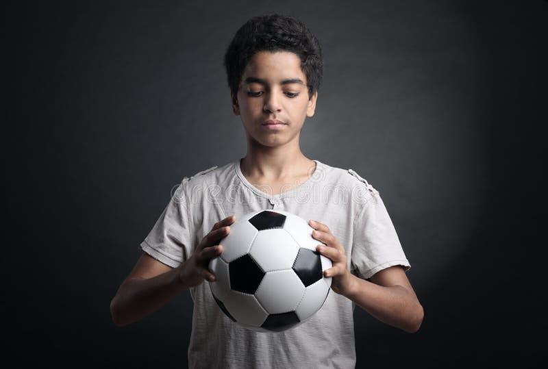 Footballeur adolescent images libres de droits