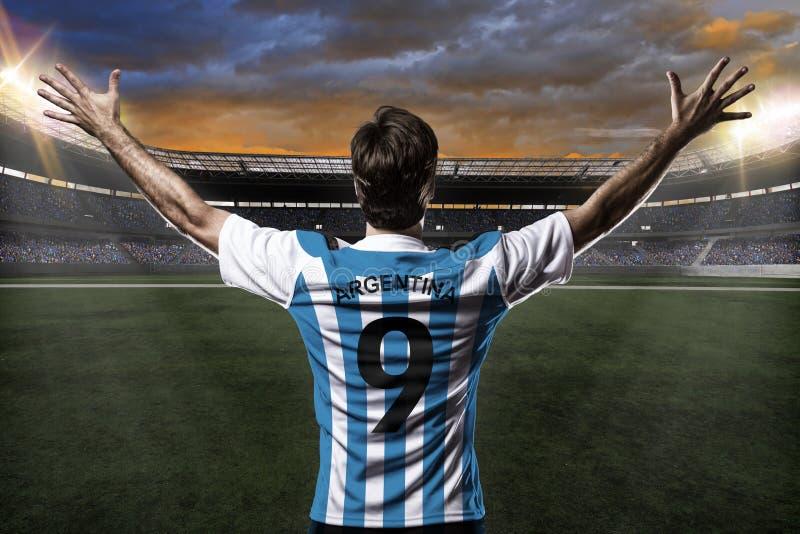 Footballeur argentin photographie stock libre de droits