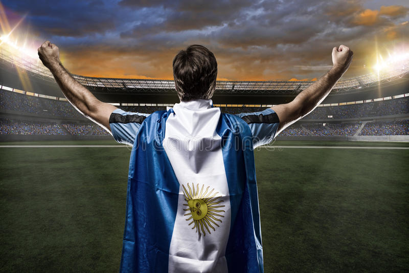Footballeur argentin photographie stock