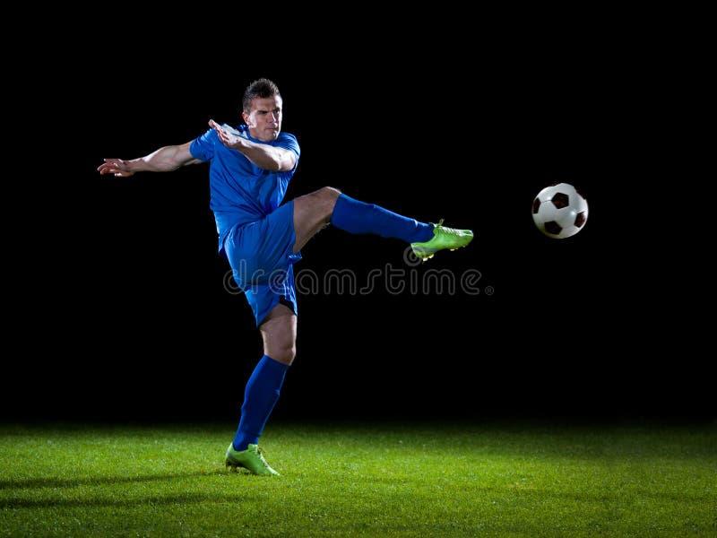 Footballeur avec la bille photos stock