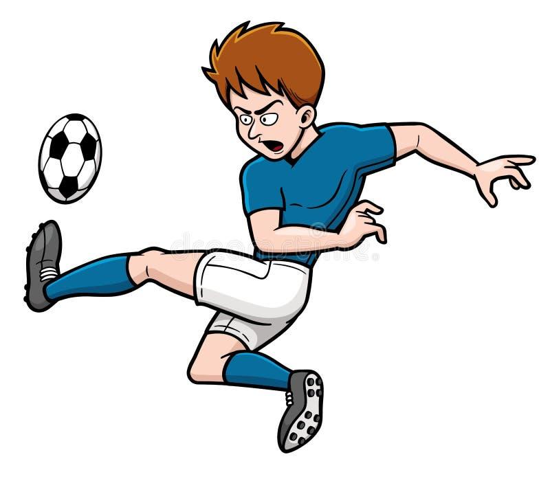 Footballeur avec la bille illustration stock