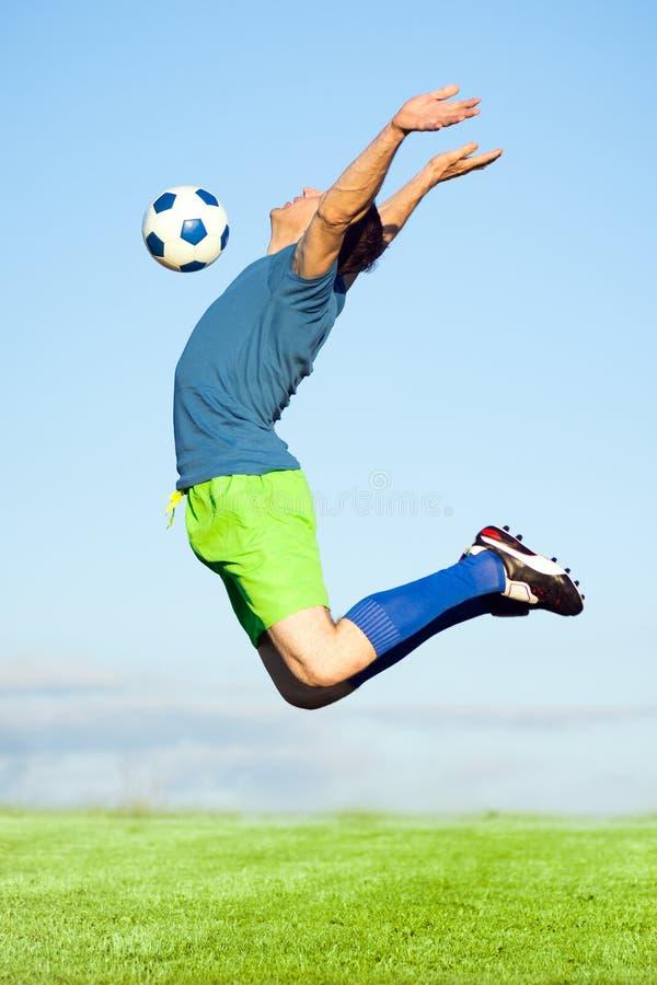Footballeur dans l'action image libre de droits
