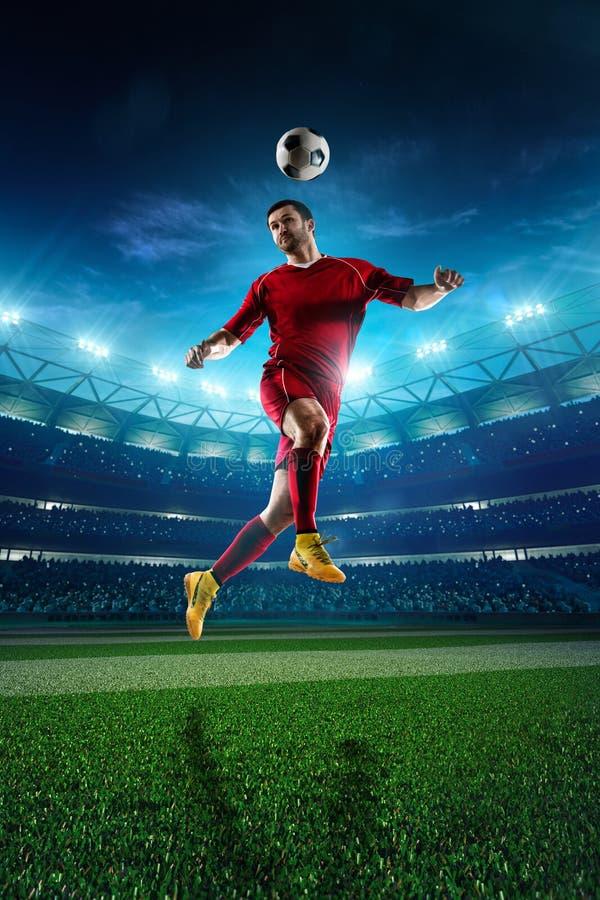 Footballeur dans l'action photo libre de droits
