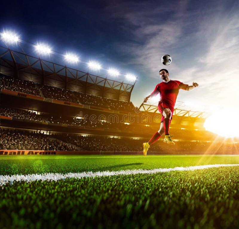 Footballeur dans l'action photo stock