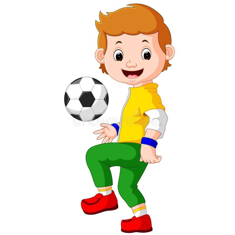 Footballeur de mâle de bande dessinée illustration de vecteur