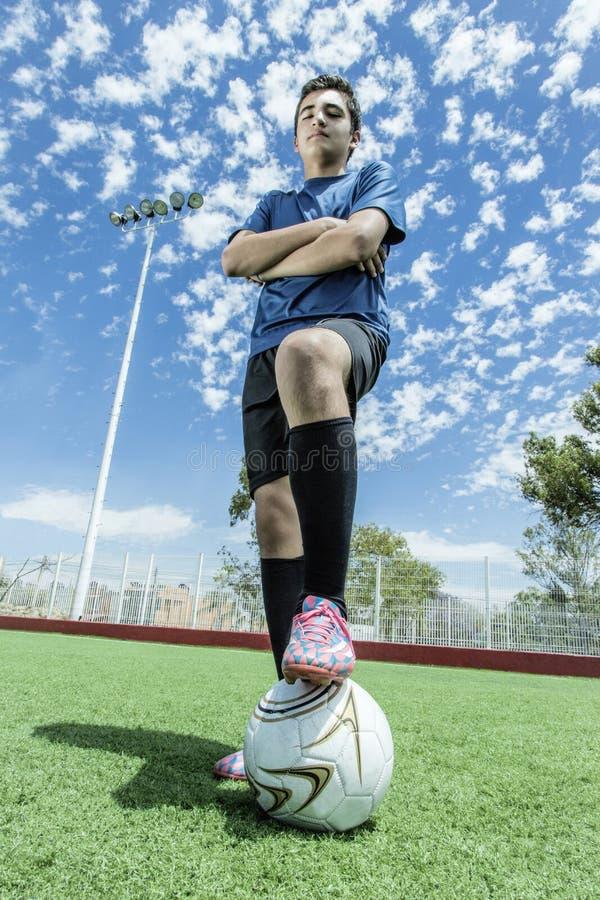 Footballeur du football photos stock