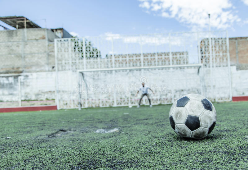 Footballeur du football photographie stock