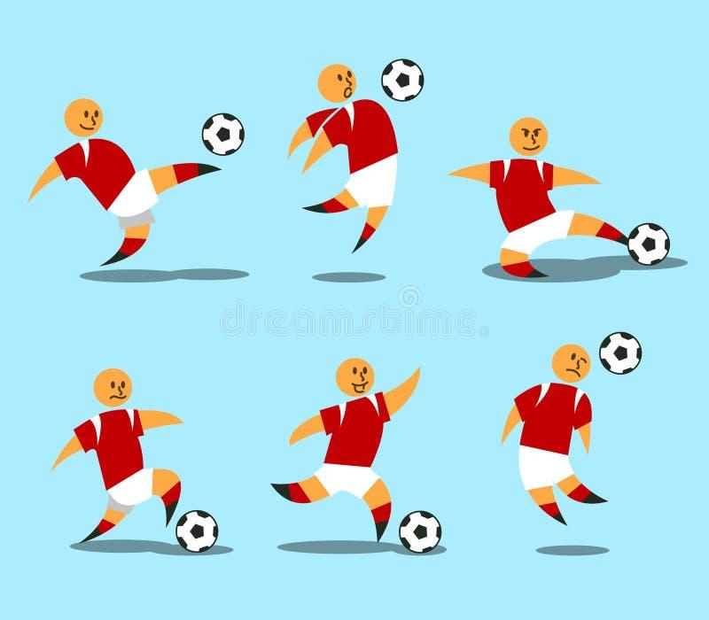 Footballeur figuratif illustration libre de droits