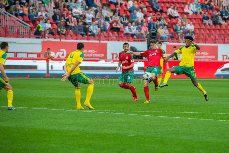 Footballeurs dans l'action images stock