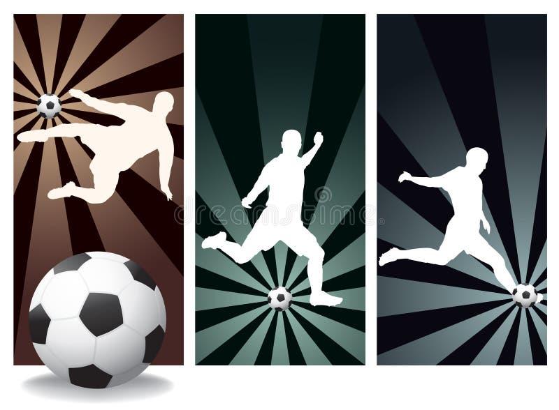 Footballeurs de vecteur illustration stock