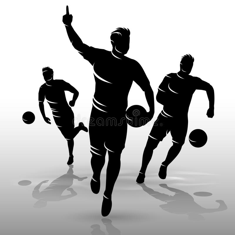 Footballeurs design01 illustration libre de droits