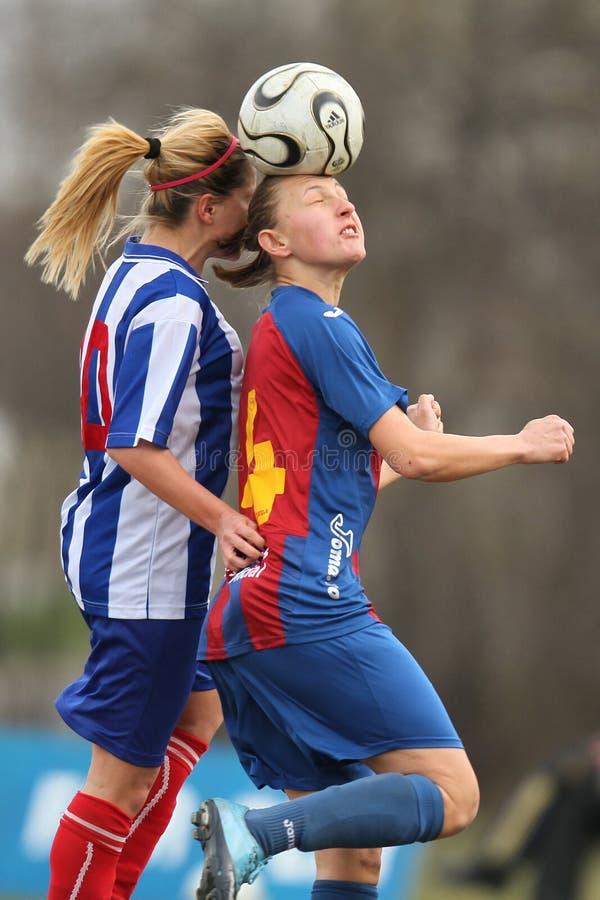 Footballeurs féminins image libre de droits