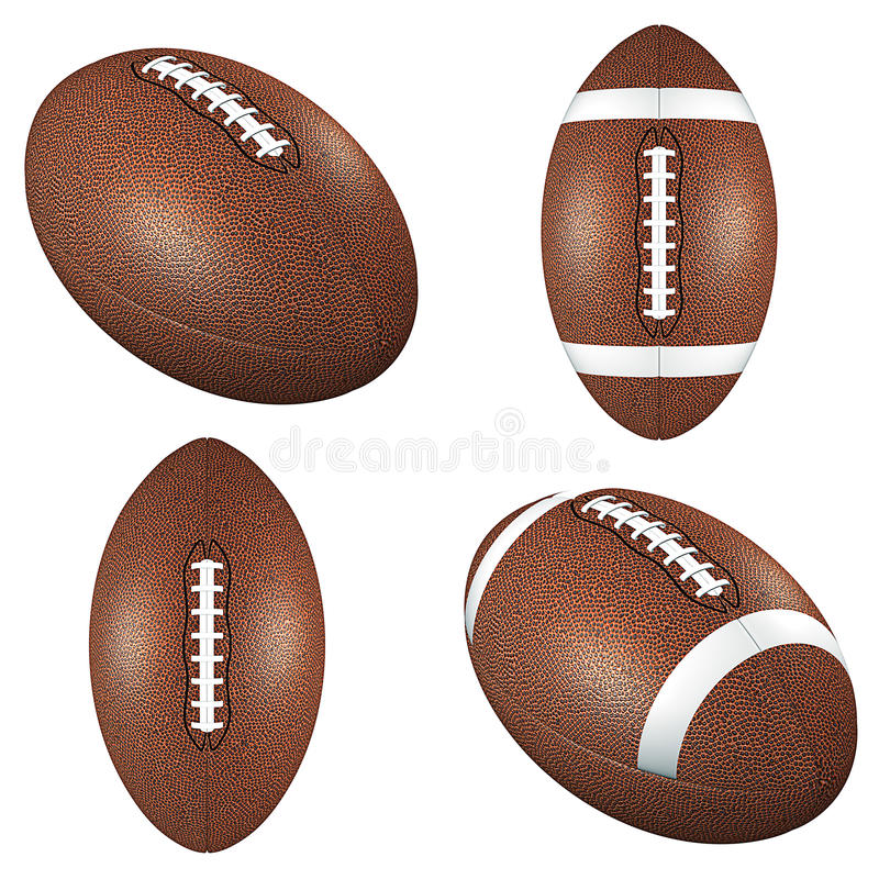 Download Footballs stock illustration. Image of fall, clipping - 25441479