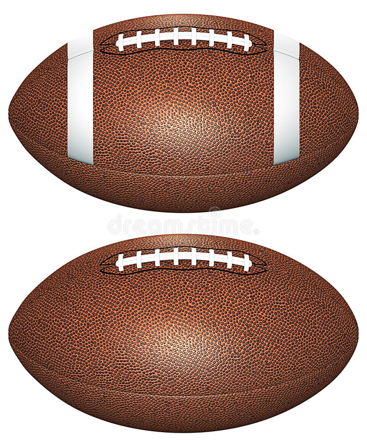 Download Footballs stock illustration. Image of ball, brown, football - 25445507