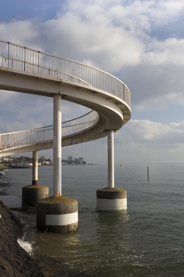 Footbridge на Leigh-на-Море, Essex, Англии стоковая фотография rf