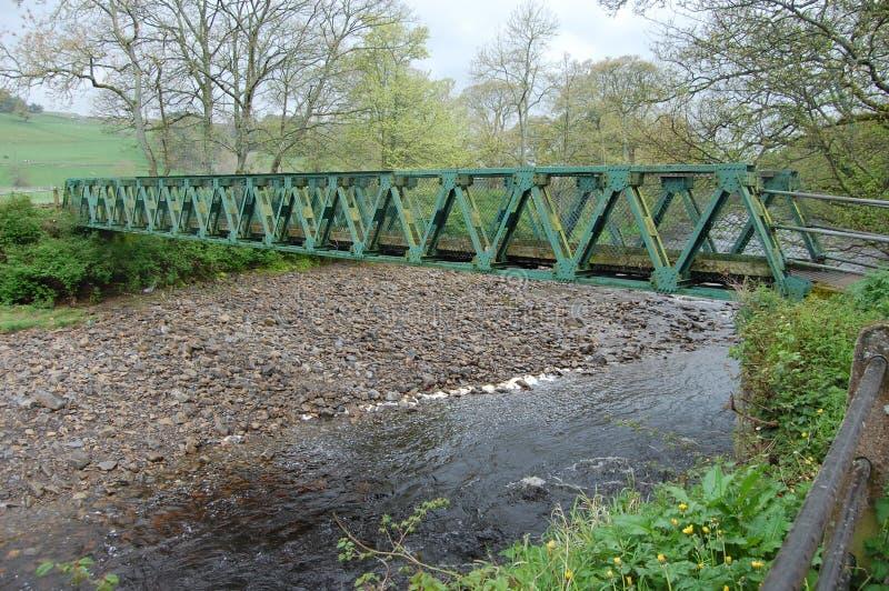 Footbridge на Stanhope стоковое фото