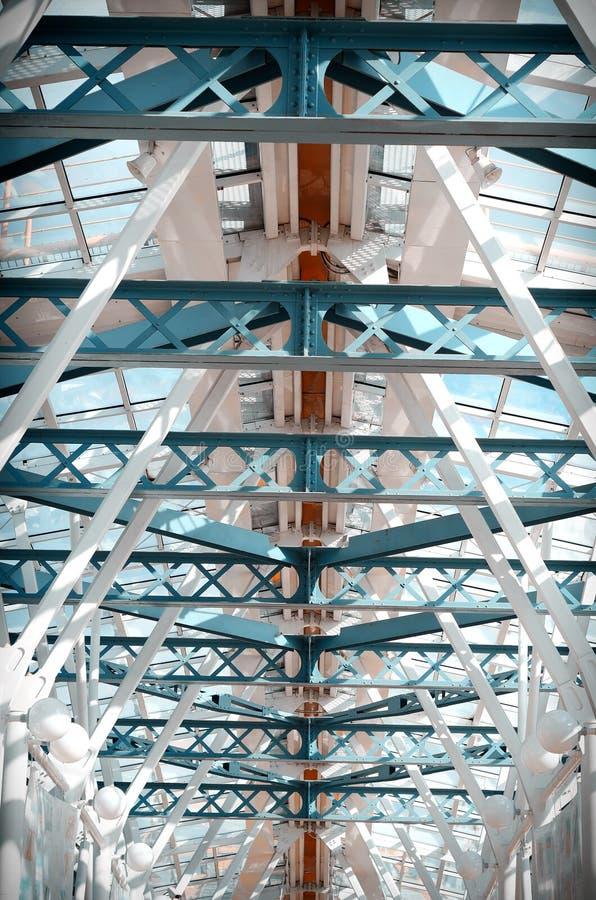 Footbridge стеклянного потолка стоковая фотография rf
