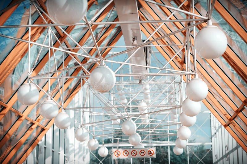 Footbridge стеклянного потолка стоковое фото rf