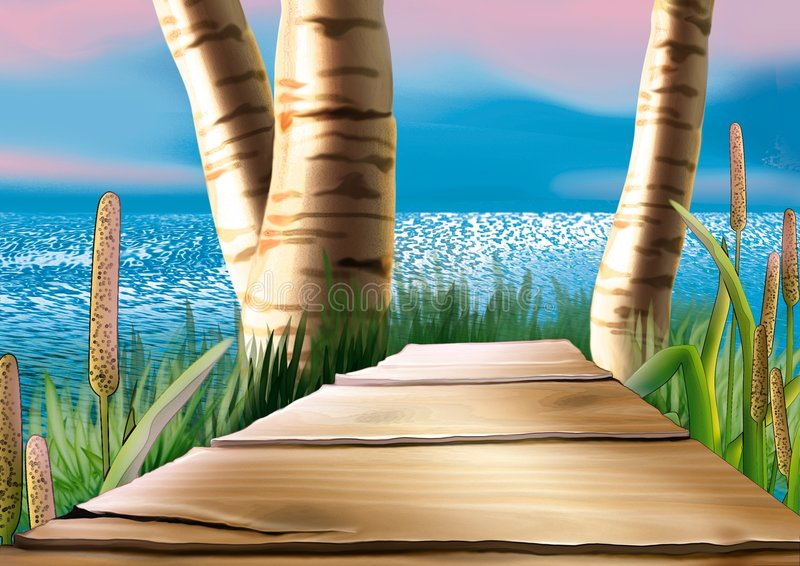 footbridge иллюстрация штока