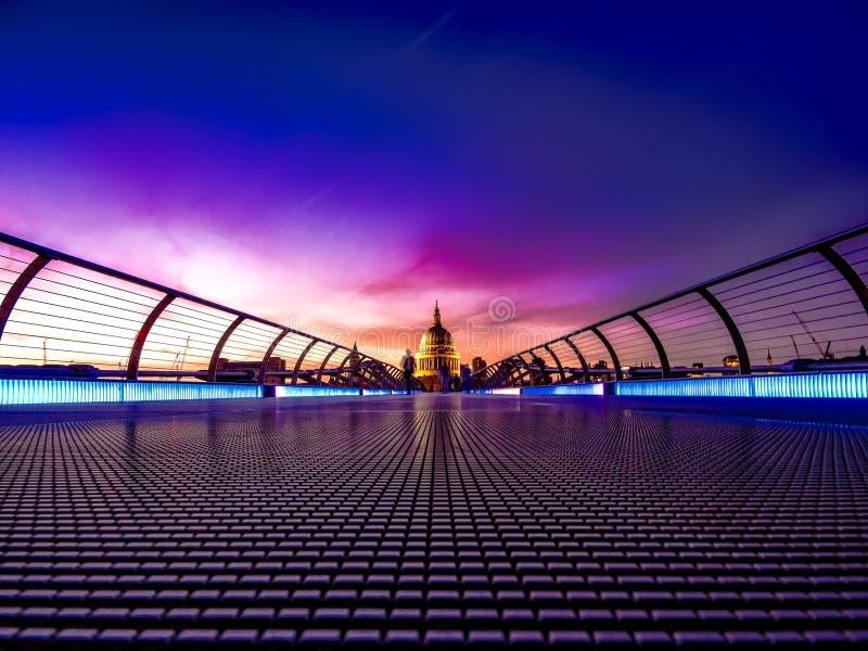Footbridge тысячелетия стоковое изображение
