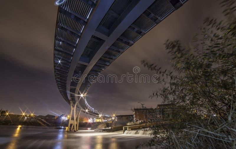 Footbridge Castleford над River Aire стоковое изображение rf