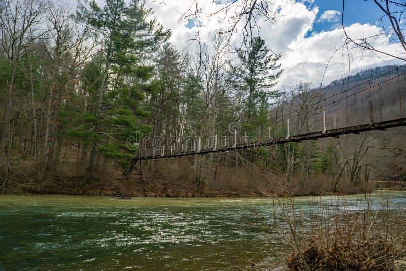 Footbridge Hiker стоковое фото