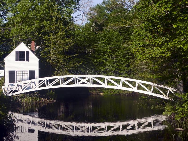 footbridge Maine somesville zdjęcia royalty free