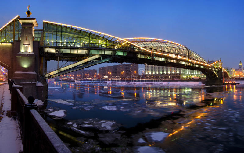 Footbridge In Moscow Royalty Free Stock Photography