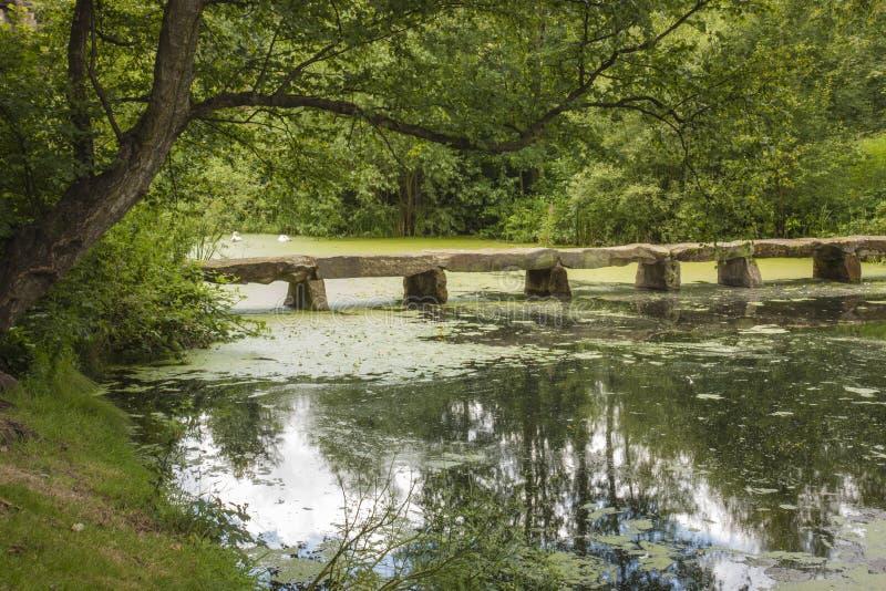 Footbridge at Nostell Priory stock photos