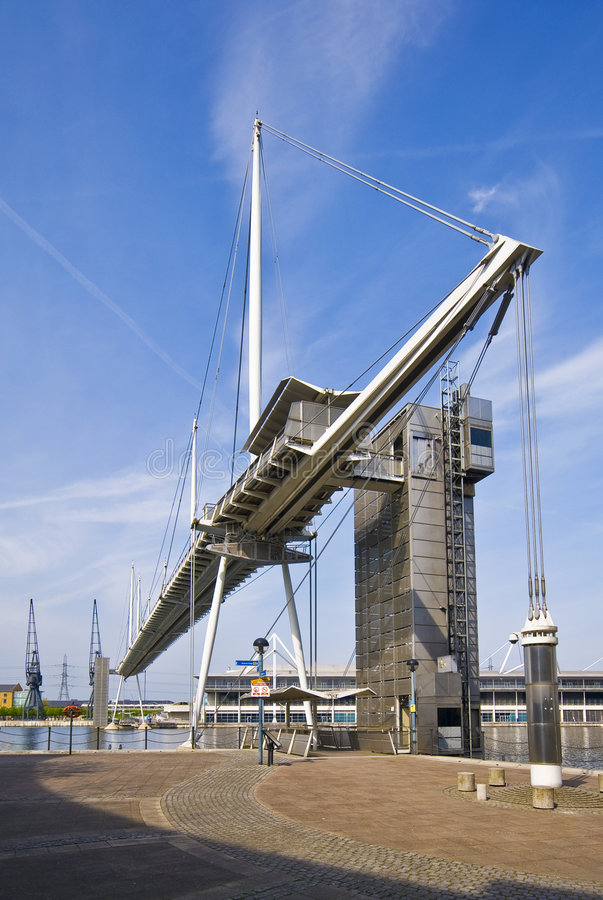 Free Footbridge Over Royal Victoria Dock By Excel Stock Photography - 9102512