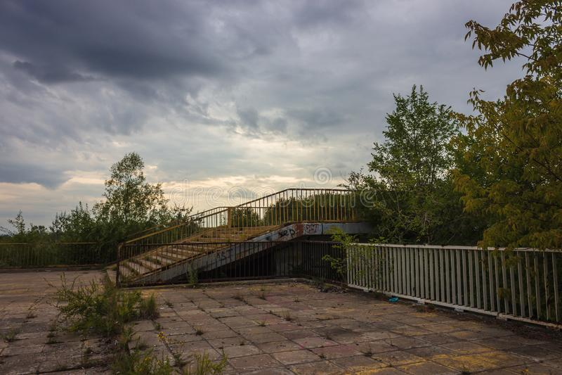 Footbridge stairs stock images