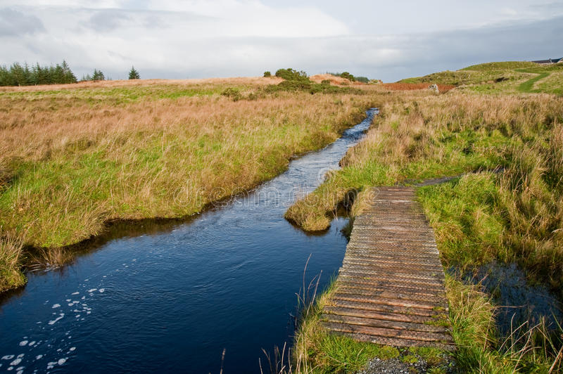 Download Footbridge To Eilean Mor Loch Finlaggan Stock Image - Image: 13357231