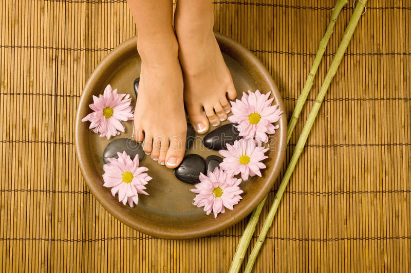 Footcare e pampering foto de stock royalty free