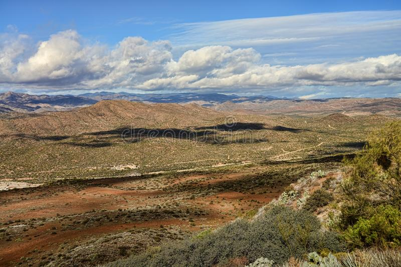 Foothills of Arizona. Between the Sonora Desert and the high plains desert royalty free stock image