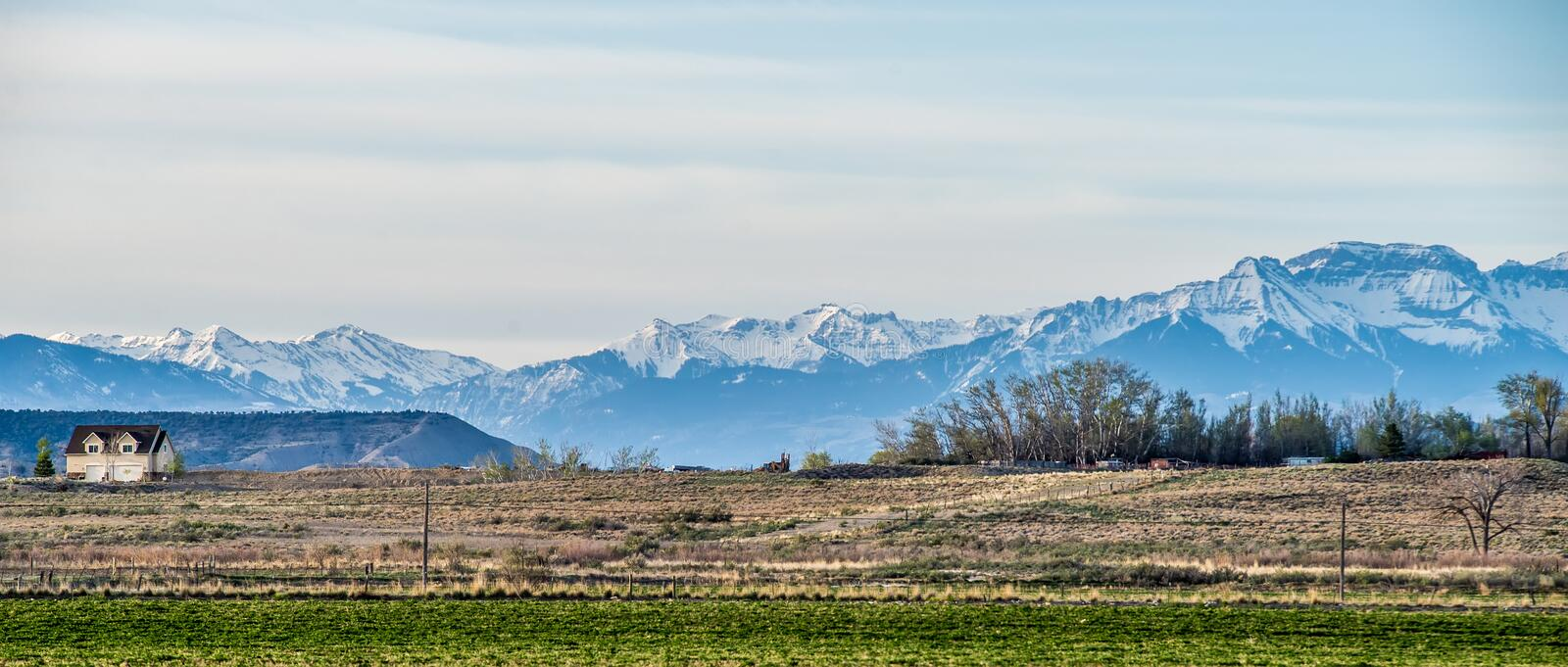 At the foothills of colorado rockies stock image