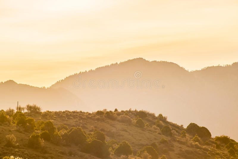 At the foothills of colorado rockies stock photo