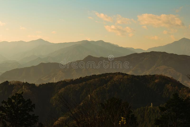 On top of Mount Takao stock images