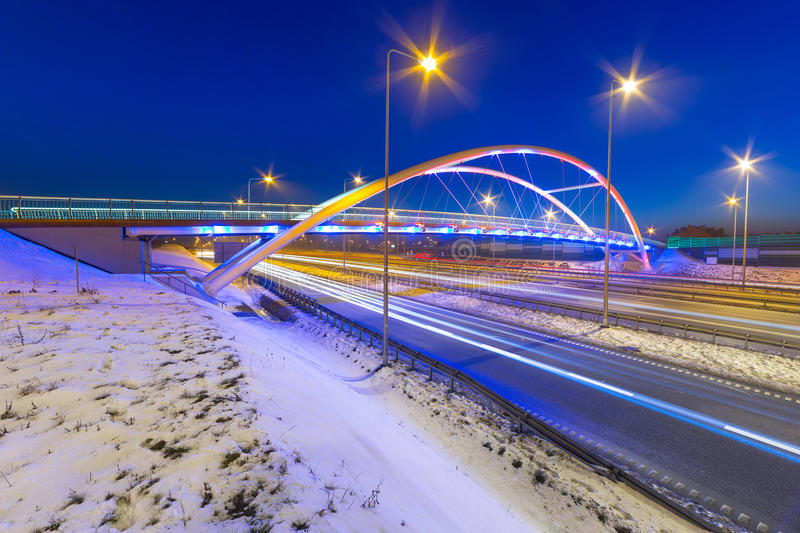 Download Foothpath Bridge Over Bypass Of Gdansk Stock Photo - Image: 38188910